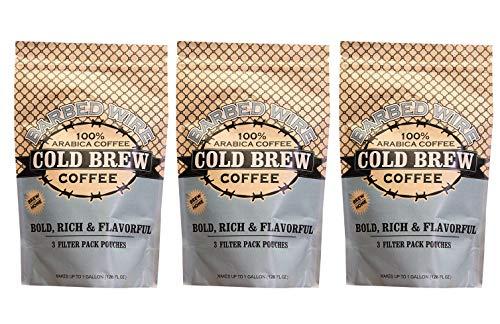 (Barbed Wire Cold Brew, Empire Coffee Roasters, 128 Fl. Oz - 3 Pack, 100% Arabica Single Origin Colombian Coffee, Kosher )