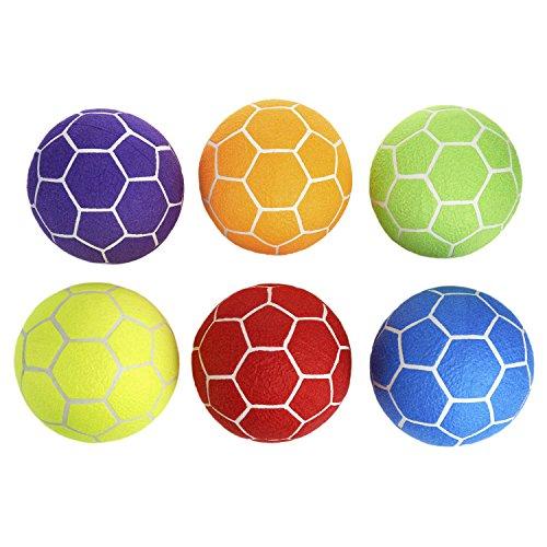 MAC - T Indoor Felt Soccer Ball Set - Size 5 - Set of 6 Balls - Assorted Colors
