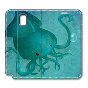 Brain114 Fashion Style Case Design Flip Folio PU Leather Cover Standup Cover Case with A Tentacled Pattern Skin for Samsung Galaxy Note 3