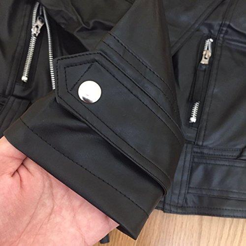 Manga Larga De Motorista Jacket Mujer Hippie Cuero PU Chaqueta Negro Vintage Cuero Moto Chaquetas Outerwear Cortas Chaquetas Slim De Chaquetas Fit Hipster Biker De 1nt0w6xqY