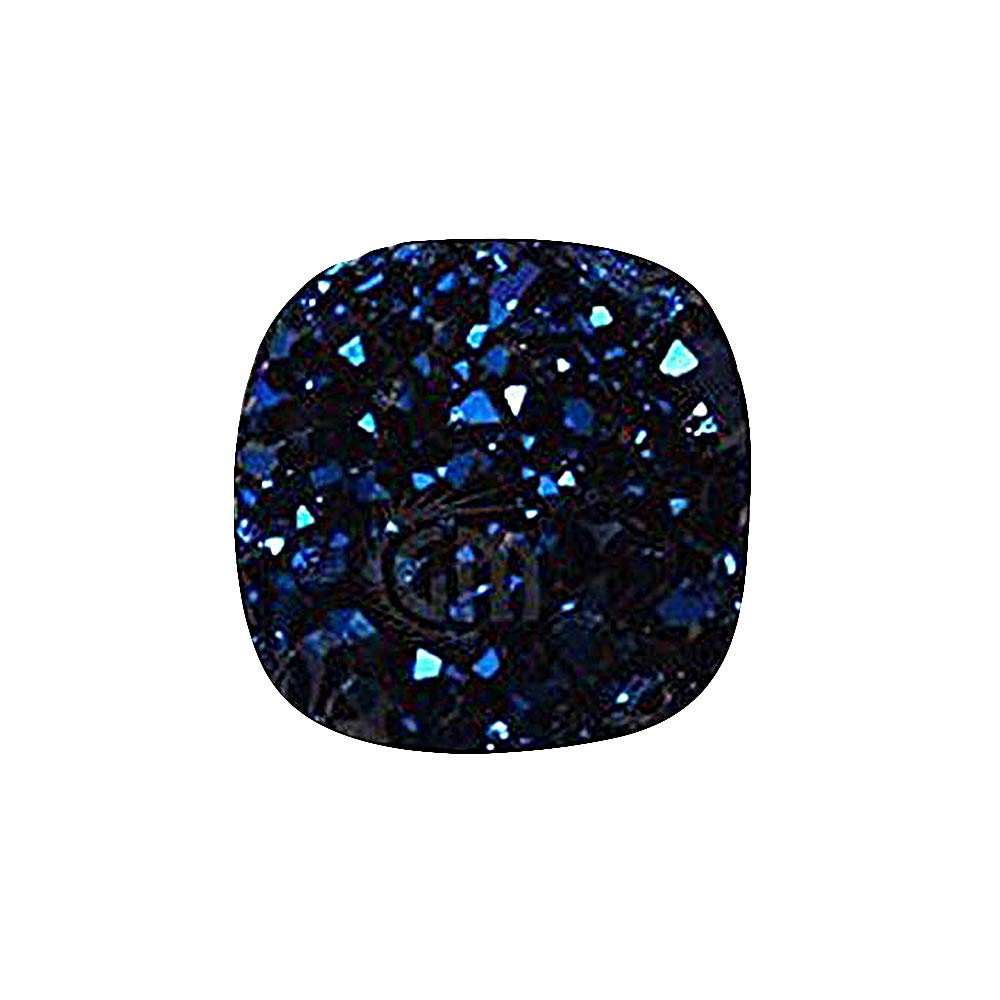 GemMartUSA Loose Gemstone Blue Druzy Cabochon, 8mm Cushion Shape Druzy Stone, Druzy Cabochon Jewelry Making Supplies (BZ-80041)