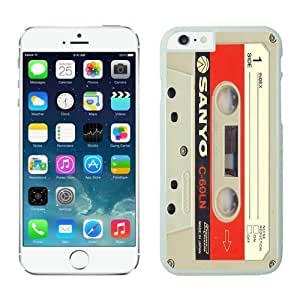 New White TPU Iphone 6 Case 4.7 Inches Vintage Audio Cassette Durable Soft Silicone Phone Cover
