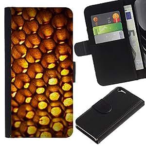 Planetar® Modelo colorido cuero carpeta tirón caso cubierta piel Holster Funda protección Para Apple (4.7 inches!!!) iPhone 6 ( Abstract Patten Honeycomb )