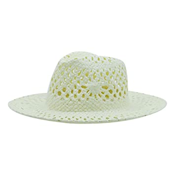 GHMM Sombrero de paja Sombrero de playa de verano masculino   femenino  Sombrero de vaquero occidental e2643ec421b