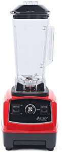 Smoothie Blender, Heavy Duty Commercial Grade Blender Variable Speed Control Large Countertop Blender, 6 Blades Ice Crusher for Milkshakes, Green Smoothies, Dry Grind,Hot Soup, Ice Cream, Juice (Red)