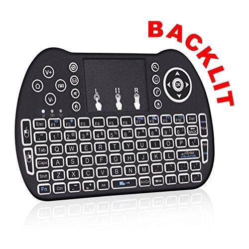 Kodi Remote Control – Backlit Android TV Remote – Use as PC Remote, Google TV Remote & More - Android Remote Control works w/ Android TV Box, Android Box, Kodi Box and More - Smart TV Remote
