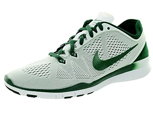 Nike Womens Free 5.0 Tr Fit 5 White/Gorge Green Training Shoe 8.5 Women US, Wei/Gorge Green, 40 B(M) EU/6 B(M) UK
