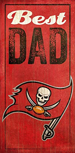 Fan Creations Tampa Bay Buccaneers Best Dad Sign, Multicolored ()