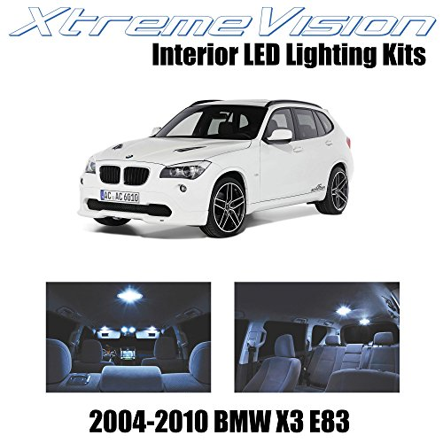 XtremeVision BMW X3 E83 SUV 2004-2010 (16 Pieces) Cool White Premium Interior LED Kit Package + Installation Tool Tool - Bmw X3 Suv