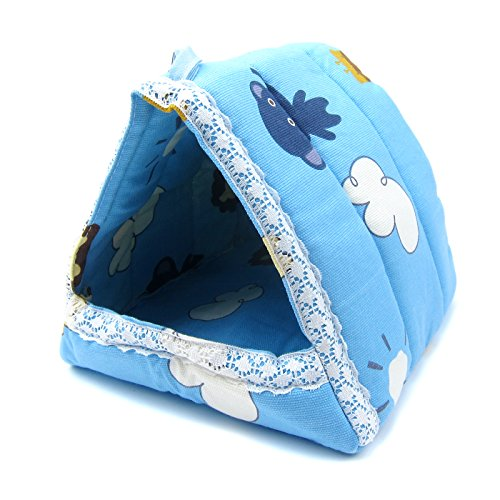 Alfie Pet by Petoga Couture – Hafez Triangle Hammock for Mouse, Chinchilla, Rat, Gerbil and Dwarf Hamster – Color: Blue