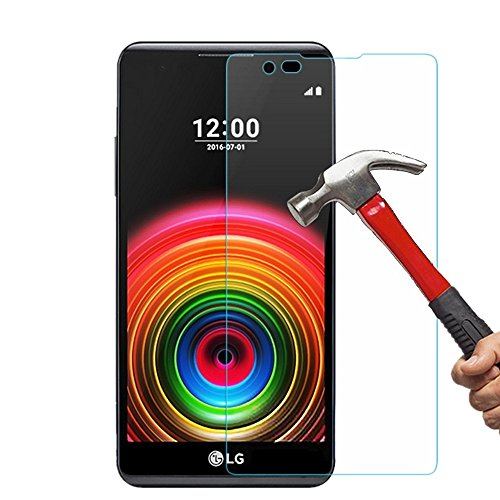 LG X Power Screen Protector, NOKEA Tempered Glass with [9H Hardness] [2.5D Round Edge] [Shatter-Proof], High Definition Glass Screen Protector For LG X Power