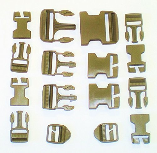 NEW 16 Piece Molle Ilbe Buckle Repair Set Kit DCU Desert Coyote Tan ()
