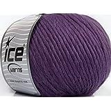 Lot of 4 x 100gr Skeins Ice Yarns YARNS Inca Alpaca Bulky Purple
