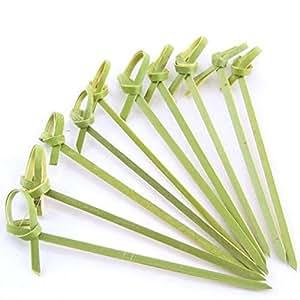 4X 50 Pcs Gushi Bamboo Picks Skewers 4 Inch S-1596X4