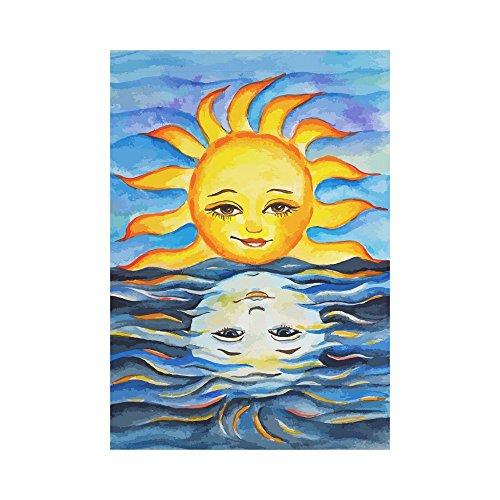 InterestPrint Sun and Its Reflection Polyester Garden Flag O