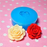 006LBH Flower / Rose Silicone Mold - Miniature Food Sweets Jewelry Charms (Clay Fimo Resin Soap Gum Paste Fondant)