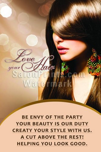 Global Printing Services Hair Salon Poster - Beautiful Model