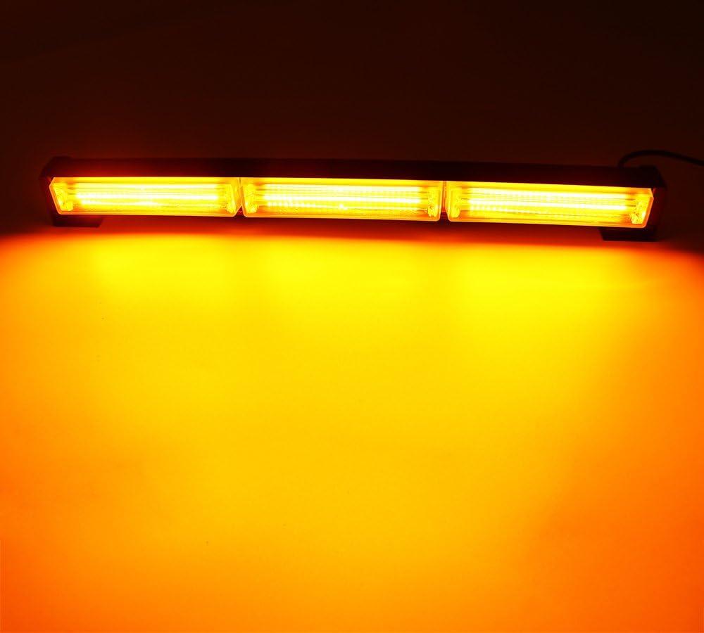 Gelb Auto Led Warnleuchte HEHEMM Led Frontblitzer 54W COB 12-24V Blitzleuchte Strobe Light Notfall Hazard Achtung Blinklicht Bar LKW Blitzer