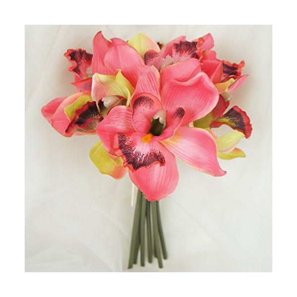 Lily-Garden-Mini-7-Stems-Cymbidium-Orchid-Bundle-Artificial-Flowers