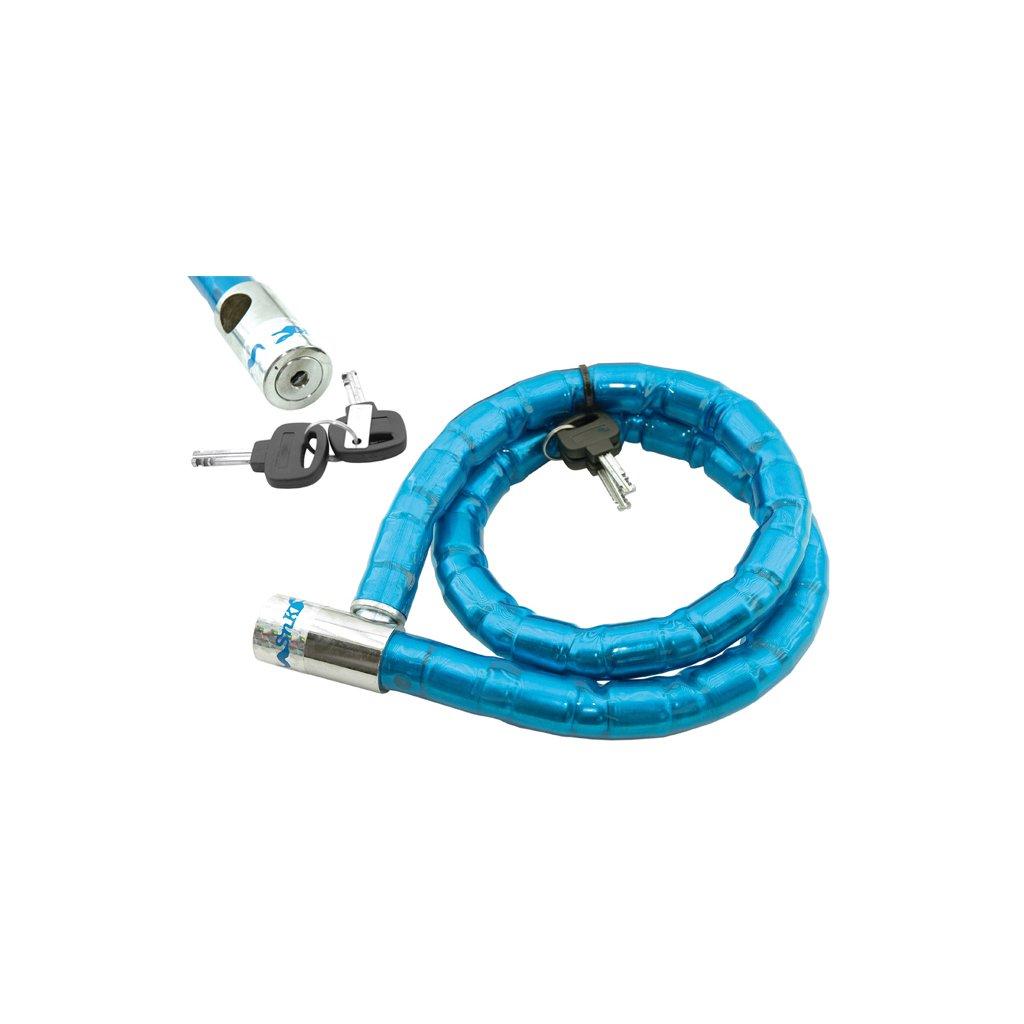 Cadenas joints /à rotule 25mm bleu 120cm bicyclette