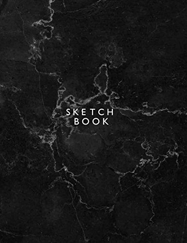 Sketchbook: Black cover  (8.5 x 11)  inches 110 pages, Blank Unlined Paper for Sketching, Drawing , Whiting , Journaling & Doodling (Black sketchbook) (Volume 1)