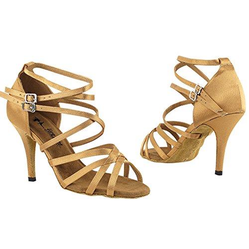 50 Shades 5008 Comfort Vestido De Noche Sandalias De Bomba, Mujeres Zapatos De Baile De Salón (2.5, 3 & 3.5 High Heels) 5008l - Satén Marrón