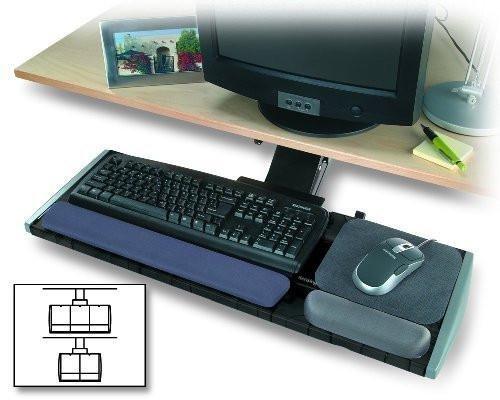 Kensington Underdesk Adjustable Keyboard Platform with Wrist Rest (K60067) by Kensington