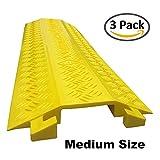 Drop Trak Cable & Hose Protector - Medium - Yellow - 3 Pack
