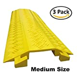 Drop Trak Cable & Hose Protector - Medium - Yellow - 3 Pack
