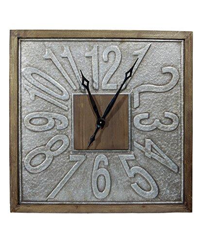 VIP International Square 31 in. Wood Clock
