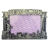 new york frame - New York Pewter Picture Frame - Apple, New York Picture Frames, Fits 4 X 5 1/2 picture