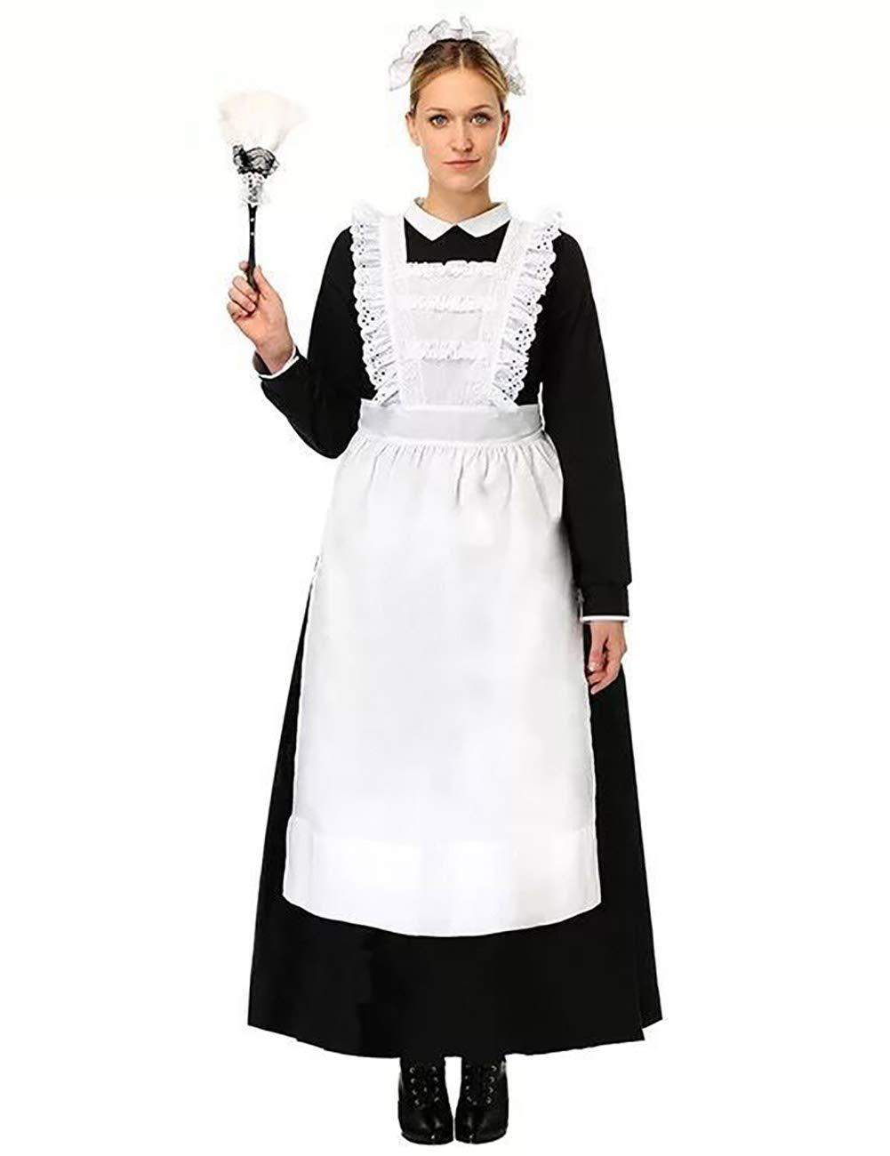 ShiyiUP Vintage Dienstmädchen Kostüm Maid Schürze Kleid Damen Lolita Kleider für Halloween Obtoberfest Karneval Party ,Damen 2 ,XXXL B07L9NXTQ3 Kostüme für Erwachsene Viele Stile | Discount