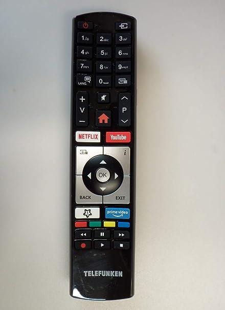 Original mando a distancia para Telefunken Smart TV Netflix Youtube Prime Video tecla: Amazon.es: Oficina y papelería