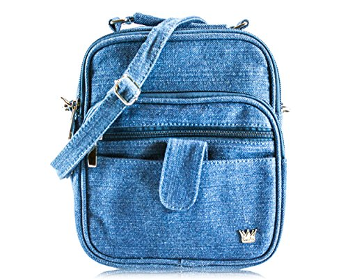 - Purse King Grand Lily Cross Body Bag (Blue Jean)