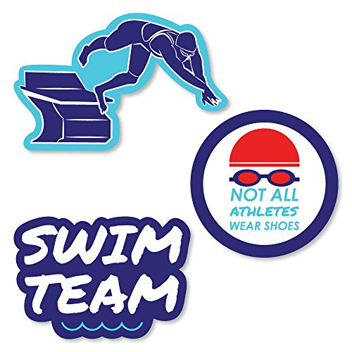 Making Waves - Swim Team - Shaped Swimming Party or Birthday Party Cut-Outs - 24 Count