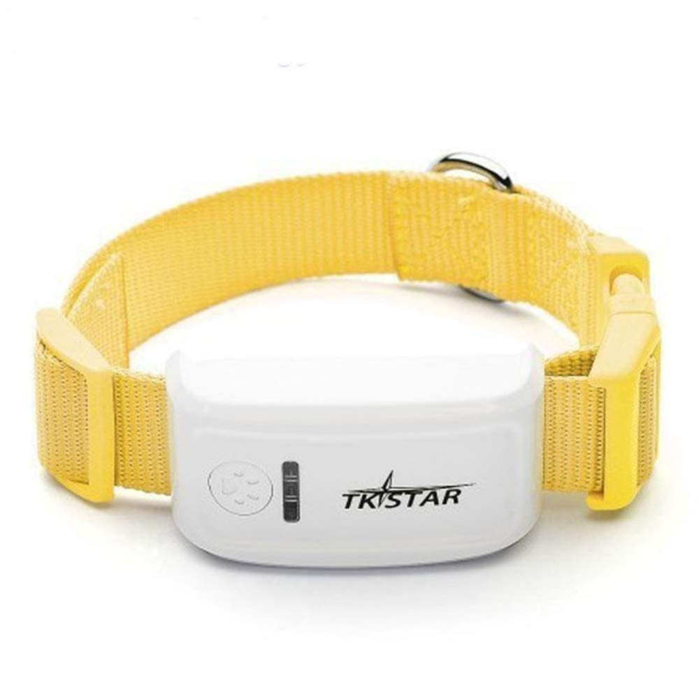 HUAXING Pet GPS Tracker,App and Real Time GPS Tracking,Lightweight and Waterproof,for Dogs/Cats/Pets,Yellow