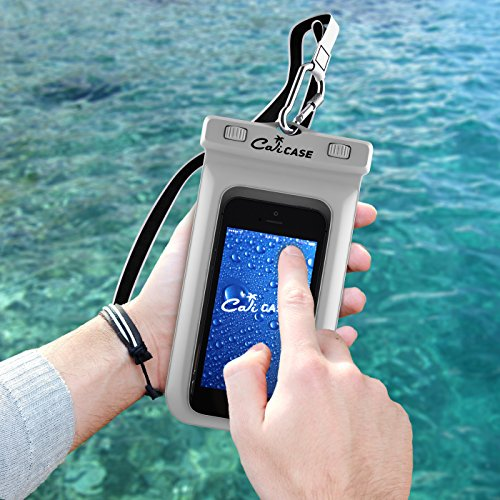 100% authentic eb7f7 27348 CaliCase Floating Waterproof Pouch (Extra Large) Outdoor Activities:  Boating Kayaking Rafting Swimming Beach Protects your Cell Phone Wallet  Passport ...