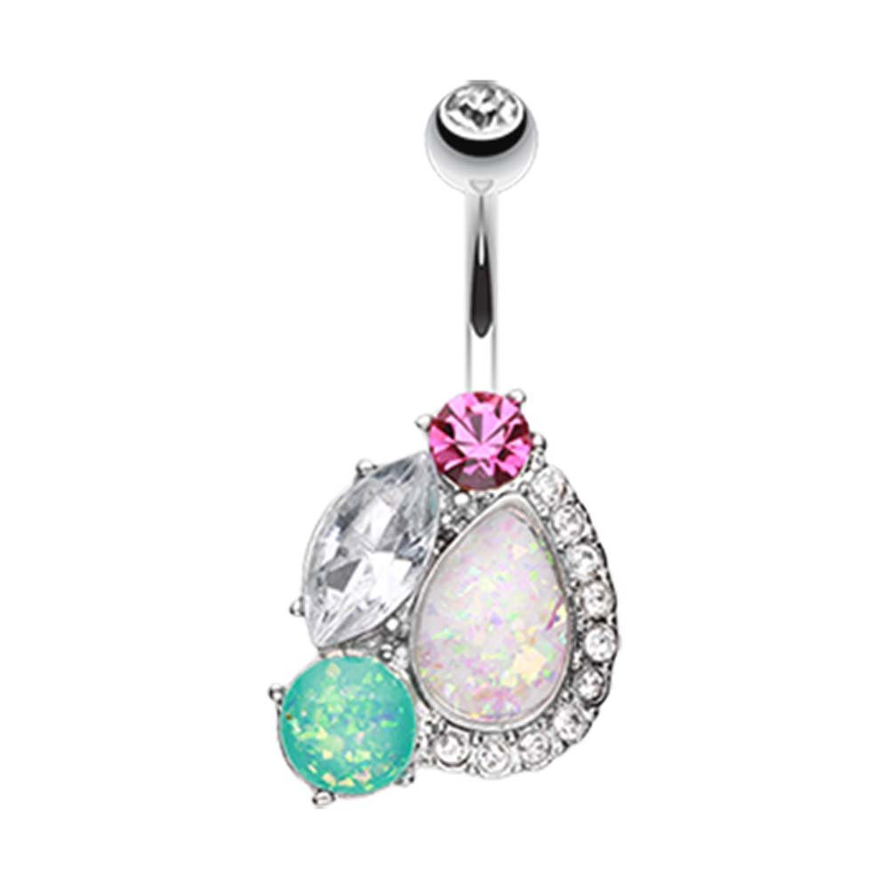 Sparkle Opalescent Medley Belly Button Ring 1.6mm - Sold Individually 14G