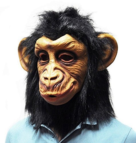 [Gmasking Deluxe Novelty Latex Chimp Masks Costume] (Monkey See Monkey Do Costume)