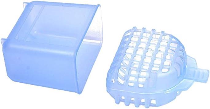 SUPVOX caja de baño de dentadura caja retenedor de ortodoncia dental caja de caja de almacenamiento de dientes falsos: Amazon.es: Salud y cuidado personal