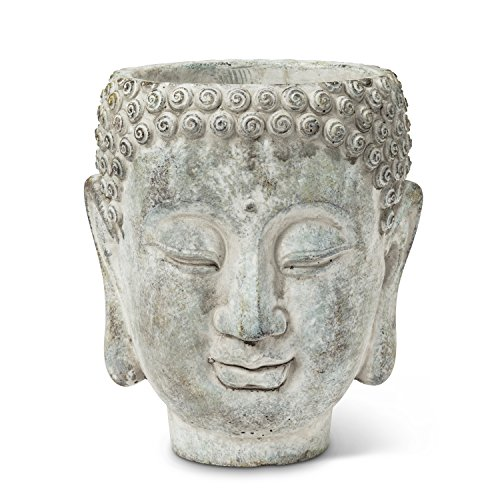 Abbott Collection 27-Dharma/350 LG Large Buddha Head Planter (Face Planter)