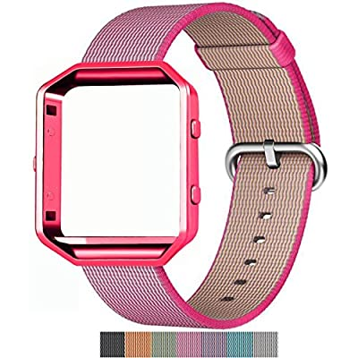 Fitbit Blaze Nylon Band, Aokay Fine Woven Durable Comfortable Breathable Replacement Blacelet Strap Bands for Fitbit Blaze Sport Watch