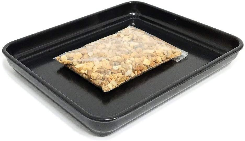 "Eve's Garden Bonsai Humidity Drip Tray 8""x10"" with Pebbles Eco friendly material, stronger, more durable, classier than plastic trays Overall size 8""x10"" to fit a 6.75""x8.75"" on the bottom of your pot"