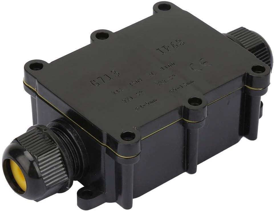 Caja de conexiones de cables caja de conexiones el/éctricas a prueba de agua Caja de conexiones de dos v/ías//tres//cuatro v/ías para equipos impermeables al aire libre L/ámpara Four-way