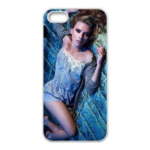 Wonderful Scarlett Johansson coque iPhone 4 4S cellulaire cas coque de téléphone cas blanche couverture de téléphone portable EOKXLLNCD20786