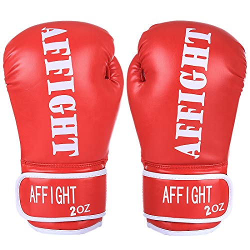 oves 2oz Training Gloves for Children Sparring Training Gloves Punching Bag Mitts Age 3-7 Years - Red ()