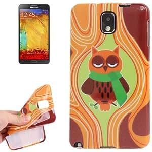 Búho Pattern Shimmering Powder TPU Funda Protectora Para Samsung Galaxy Note III + Protector Pantalla Gratis/N9000