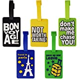 Luggage Tag Catchy Message - Pack of 5 (1i466) - Bag Travel Tags