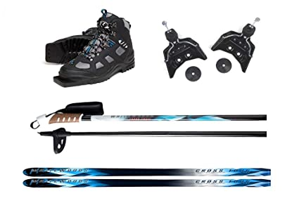 Cross Country Skis For Sale Xc Ski Packages Crosscountryski Com >> Whitewoods 75mm 3pin Cross Country Ski Package Boots Bindings Poles Skis 177cm For Skiers 121 150 Lbs