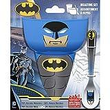 Zak Designs 3 Piece Bowl/Tumbler/Spoon featuring Batman Comic Graphics Breakfast Set (BPA-free and Break-resistant), Multicolored